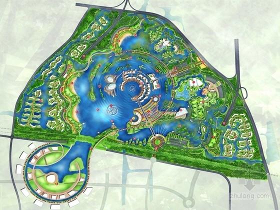 """[浙江]""""涟漪""""为主题的现代休闲公园景观规划设计方案"""