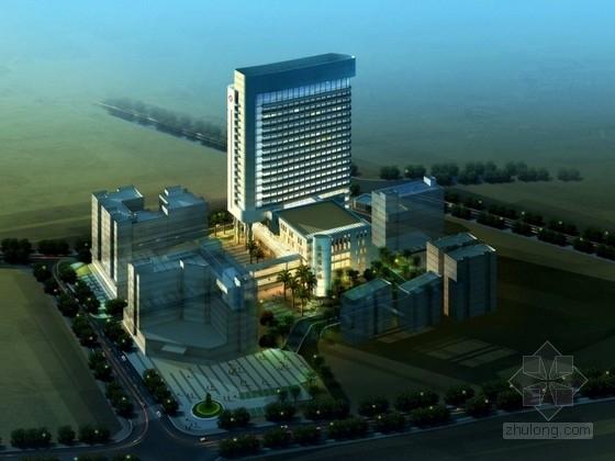 [深圳]某十八层人民医院建筑设计方案文本(含CAD)