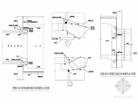 [湖南]轨道交通明挖地下两层双跨框架结构车站施工图全套121张(含交通疏解)