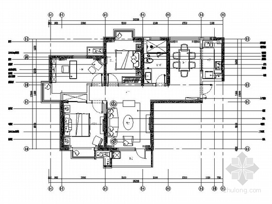 [泗阳]小巧两居室室内样板房施工图