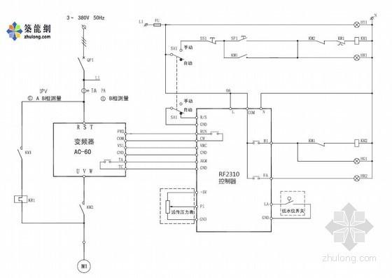 变频恒压供水电气原理图(一拖一)