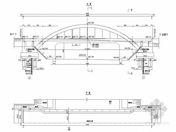 36m中承式悬链线钢筋砼拱桥(36张)