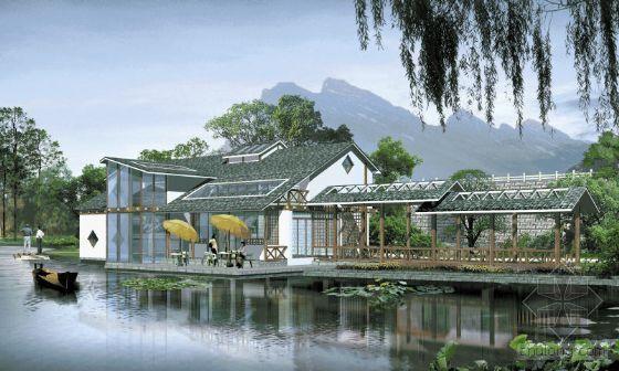 校园景观设计透视效果