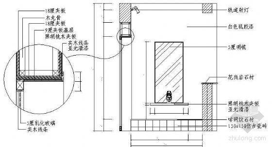 浴室立面图