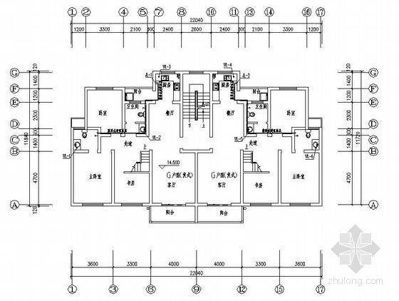 郑州某小区4#楼给排水图纸