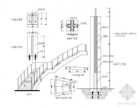 大堂楼梯扶手结构详图