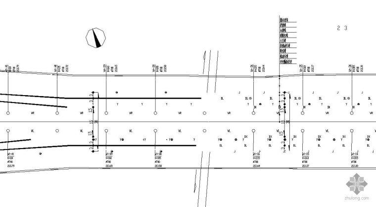 某市政道路给排水管线平面图