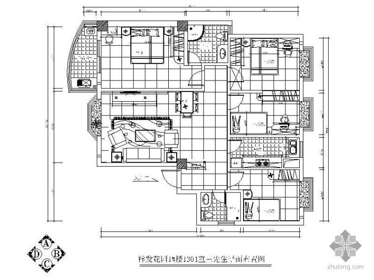 四室两厅装修图纸(含效果图)