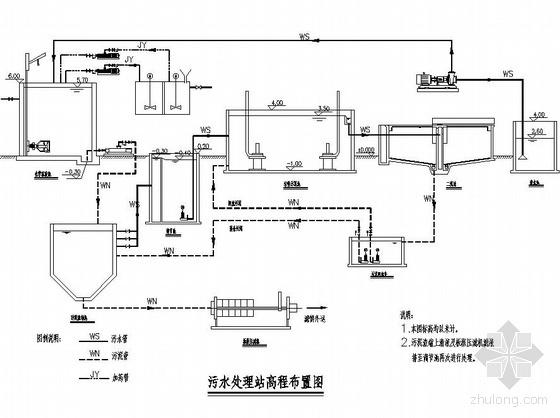 上海某洗发水废水处理工程工艺流程及平面布置图