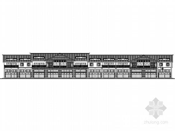 [浙江]某二层仿古商业街建筑扩初图