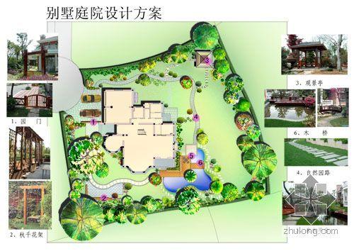 别墅庭院设计psd