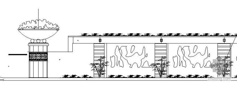 吐水浮雕墙施工详图