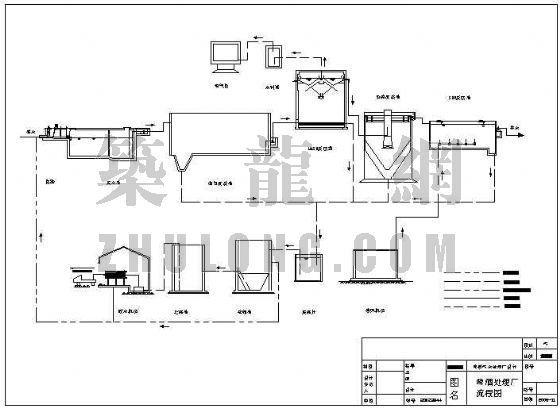 uasb反应器cad图资料下载-某啤酒污水处理厂设计全套图(毕业设计)