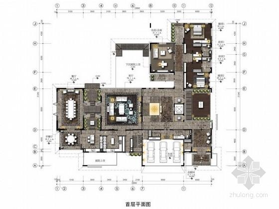 [北京]夏日半岛精品新古典双层别墅样板间方案图