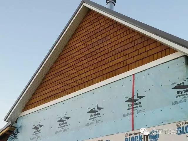 美国农村建房全程实拍——装配式木结构施工,速度快、性能好!_26