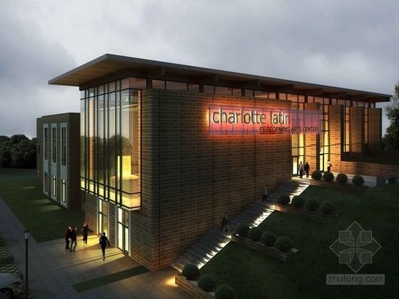 艺术中心建筑3D模型下载
