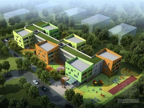 [上海]现代风格住宅小区配套16班幼儿园设计方案文本(2015年图纸)