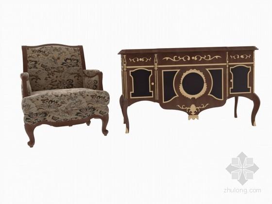 欧式古典家具3D模型下载