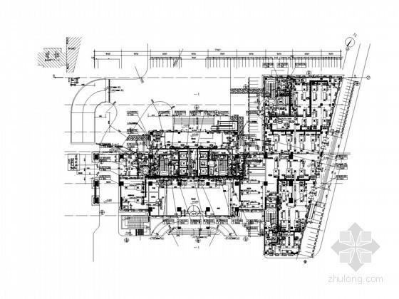 [上海]高层酒店空调及通风排烟系统设计施工图(含冷热源水系统)