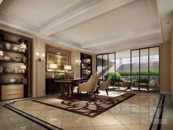 [上海]名师精装修跃层样板房软装室内设计方案