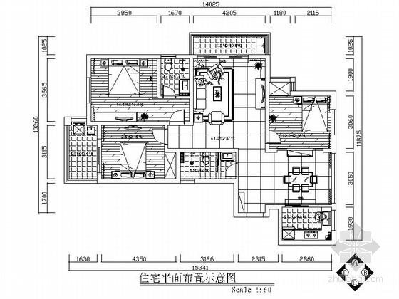 [北京]现代简欧混搭风三居室装修图(含效果图)
