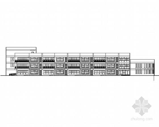 [安徽]三层框架结构长方形体块县级幼儿园建筑施工图