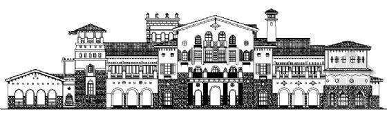 [西班牙风情]某二层接待中心建筑扩初设计图