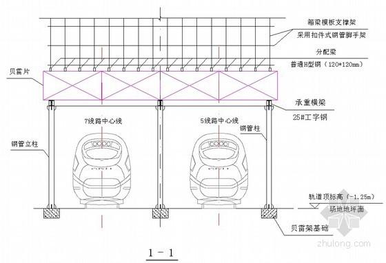 超高超重超长跨弧形箱梁模板支架施工工法(贝雷架)