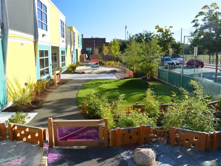 美国儿童保育中心周围景观