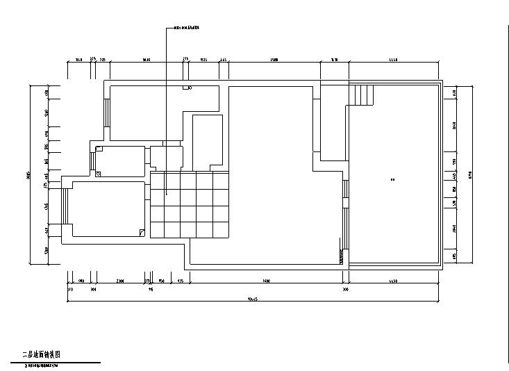 二层地面铺装图