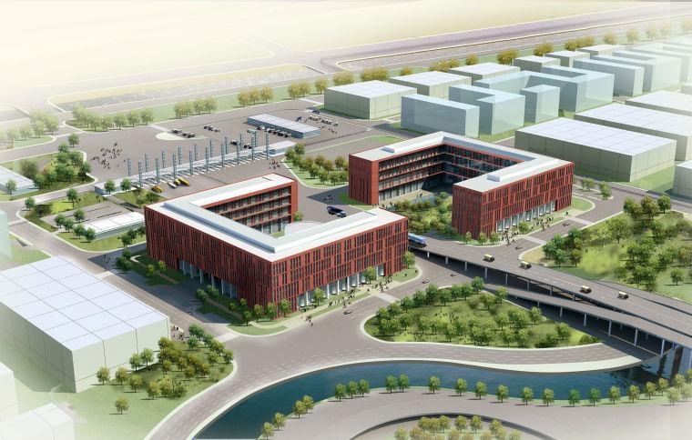 [上海]机场综合保税区公共服务中心绿色施工汇报材料