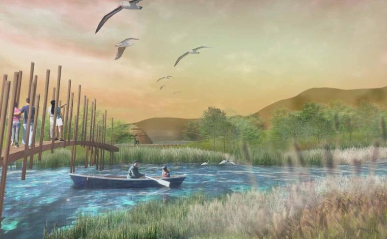 高端酒店景观设计——生命之水效果图