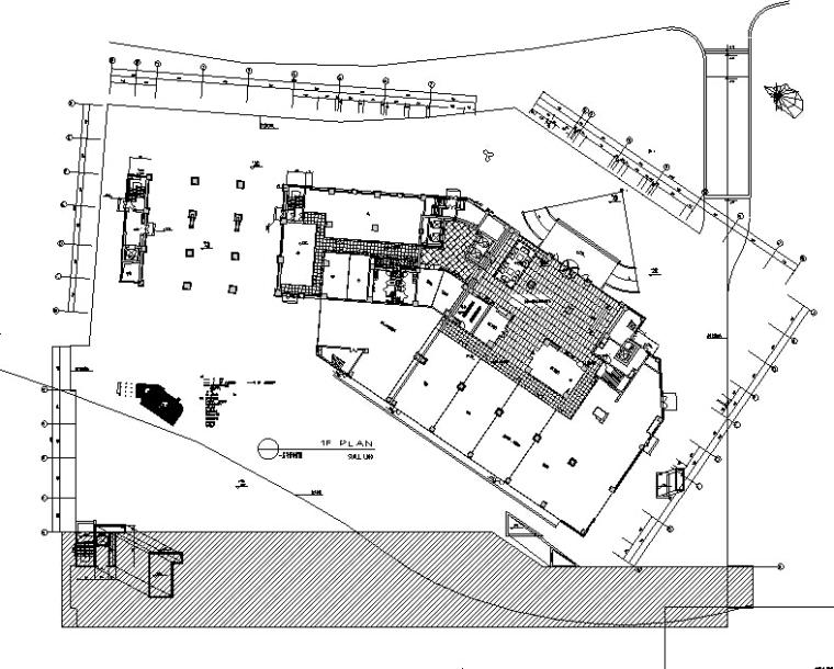 一层大厅平面布置图