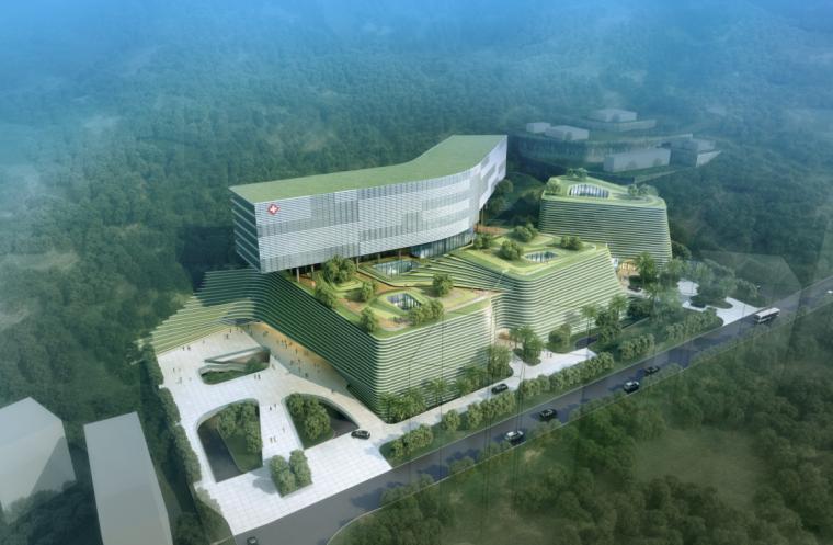 [深圳]大型退台式省级综合性医院建筑设计方案文本