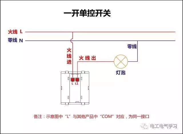 【电工必备】开关照明电机断路器接线图大全非常值得收藏!_1