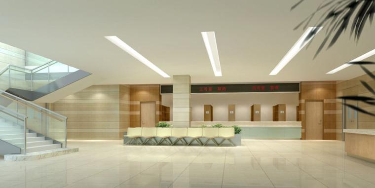 (原创)医院大厅设计案例效果图