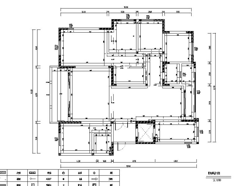 简约优雅美式风格样板间设计施工图(附效果图)_4