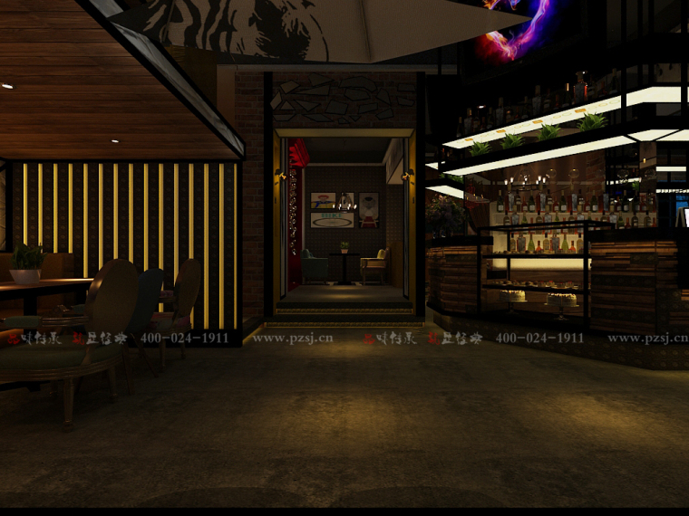 [休闲吧设计]沈阳市中山路热情的斑马艺术休闲吧项目设计-3.jpg