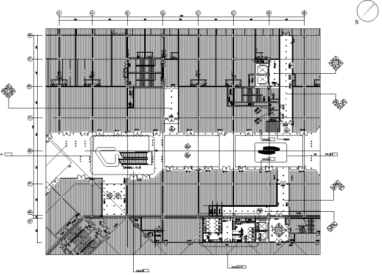 [安徽]包河万达广场大型商场设计施工图(附效果图+物料单)
