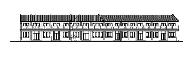 两层仿古街建筑施工图