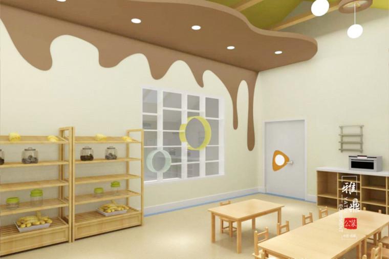 成都幼儿园设计 充满国学气息的幼儿园设计效果图
