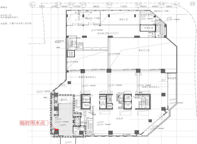09L2M层施工平面布置图