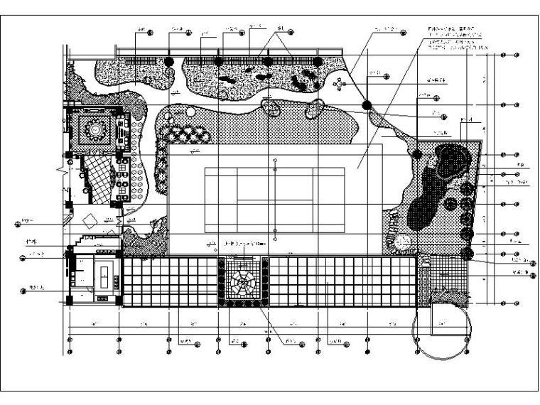 某办公楼屋顶花园完整施工图方案