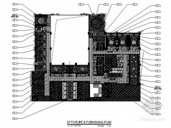 [中山]繁华商业中心区酒店典雅中餐厅装修施工图(含效果)