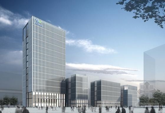 122米超高层知名企业办公总部建筑效果图