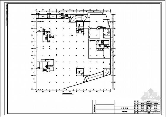 烟台某地下商场上下水安装竣工图