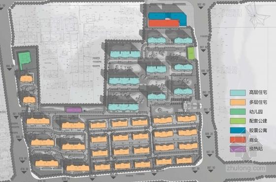 高层欧式古典风格住宅区规划分析图