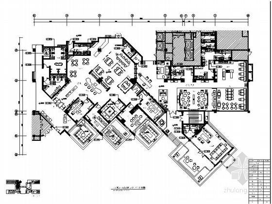 [张家界]假日酒店特色行政酒廊及茶吧装修设计施工图(含效果)