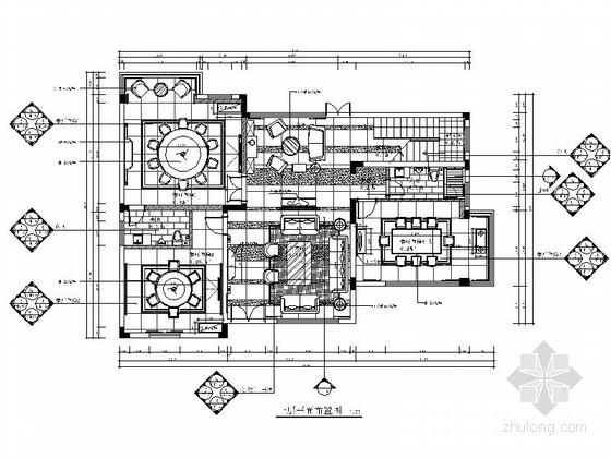 [原创]上市公司设计作品高档会所室内设计CAD施工图(含效果图)