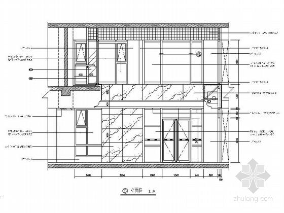 [北京]地方性股份制商业银行支行装修施工图营业大厅立面图